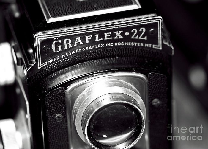 Graflex 22 Greeting Card featuring the photograph Graflex 22 by John Rizzuto