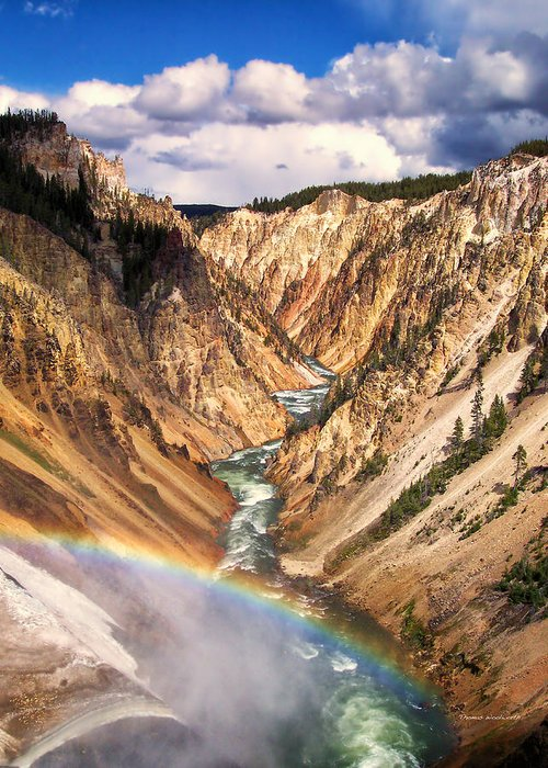 Yellowstone Greeting Card featuring the photograph Grand Canyon Of Yellowstone 1 by Thomas Woolworth
