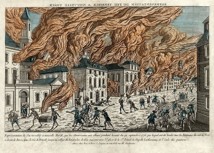 Great Fire Of New York Greeting Card featuring the photograph Great Fire Of New York, 1776 by Science Photo Library