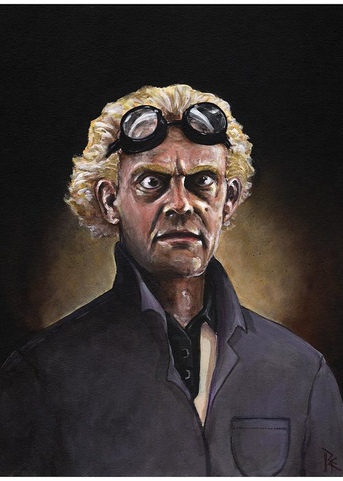 Great Scott Greeting Card featuring the painting Great Scott by Richardson Comly