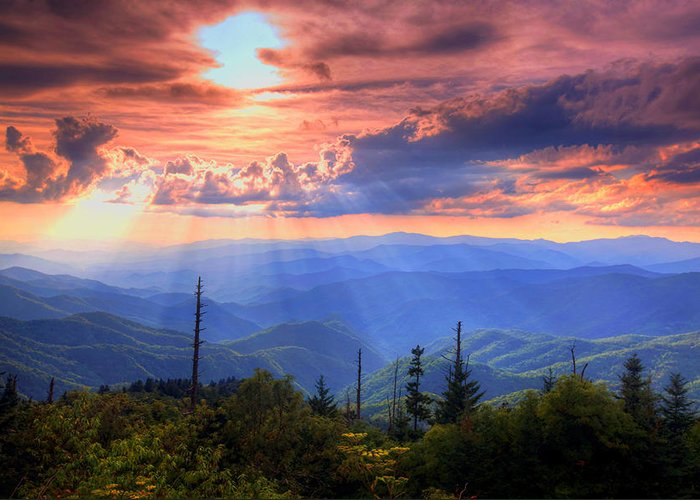 Landscape Greeting Card featuring the photograph Great Smoky Mountains by Doug McPherson