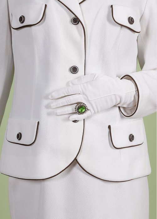 Woman Greeting Card featuring the photograph Green Ring by Joana Kruse