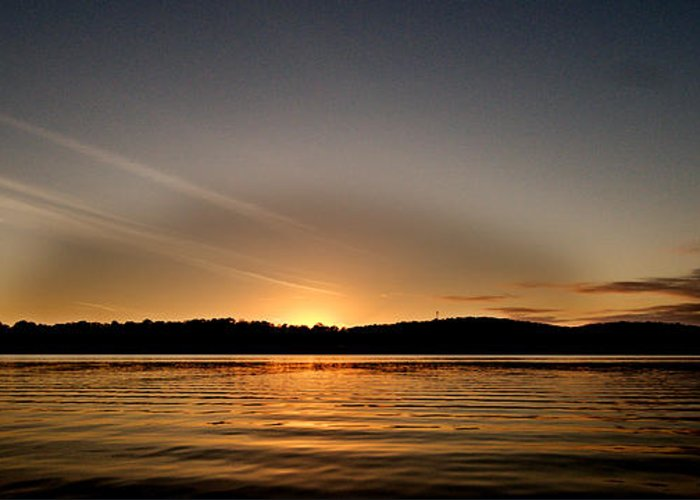 Art Greeting Card featuring the photograph Grey Heaven - Sunrise Panorama by Geoff Childs