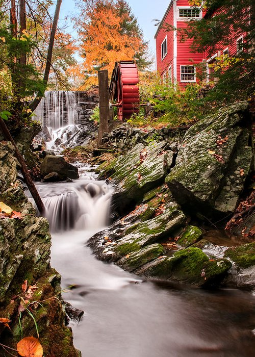 Grist Mill Greeting Card featuring the photograph Grist Mill-bridgewater Connecticut by Thomas Schoeller