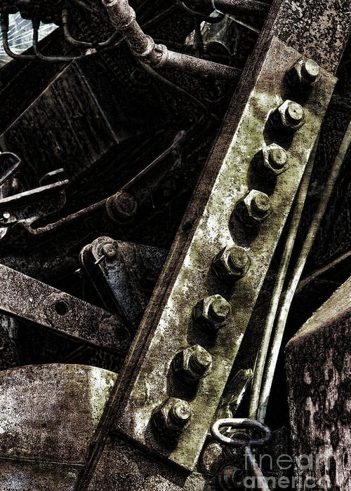 Industrial Greeting Card featuring the photograph Grunge Industrial Machinery by Olivier Le Queinec