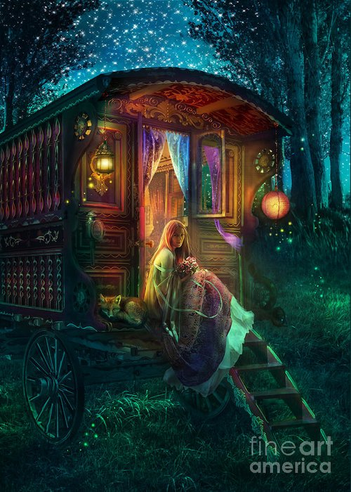Gypsy Greeting Card featuring the photograph Gypsy Firefly by Aimee Stewart