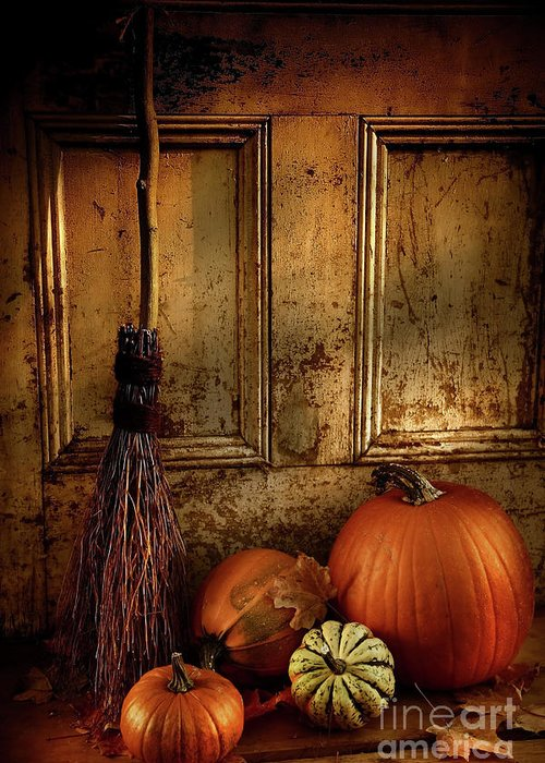Autumn Greeting Card featuring the photograph Halloween Night by Sandra Cunningham