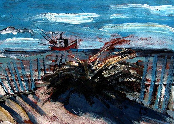 St. Joe Peninsula Greeting Card featuring the painting Hanging At Saint Joe Peninsula State Park by Charlie Spear