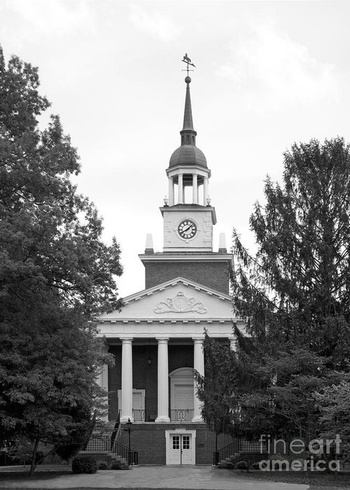 Hanover Greeting Card featuring the photograph Hanover College Parker Auditorium by University Icons