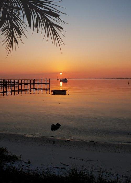 Harbor Greeting Card featuring the photograph Harbor Sunrise by Regina Williams