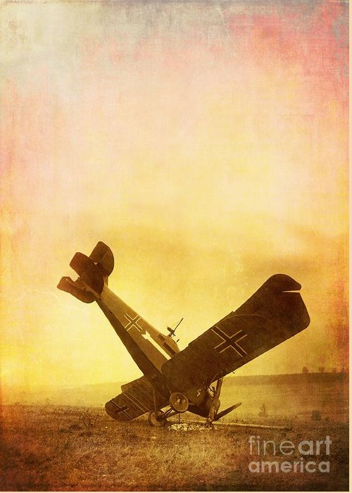 Airplane Greeting Card featuring the photograph Hard Landing by Edward Fielding