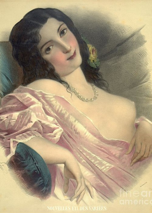 Harem Girl 1850 Greeting Card featuring the photograph Harem Girl 1850 by Padre Art