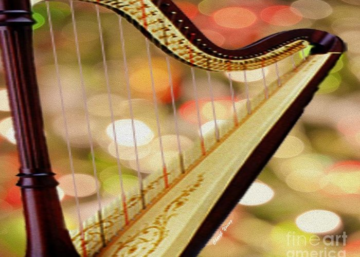 Musical Greeting Card featuring the photograph Harp by Cheryl Young