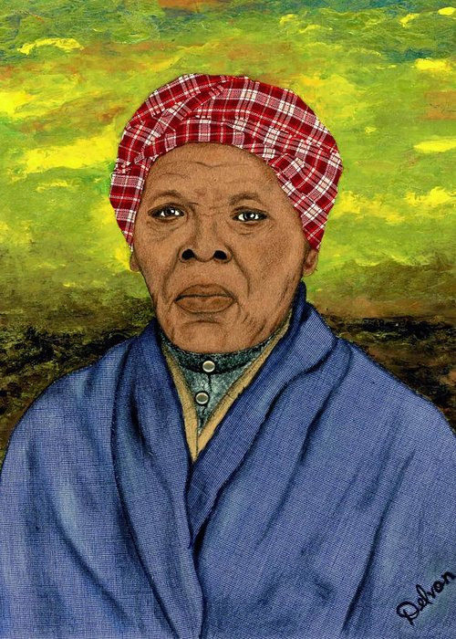 Art By Delvon Greeting Card featuring the painting Harriet by Delvon