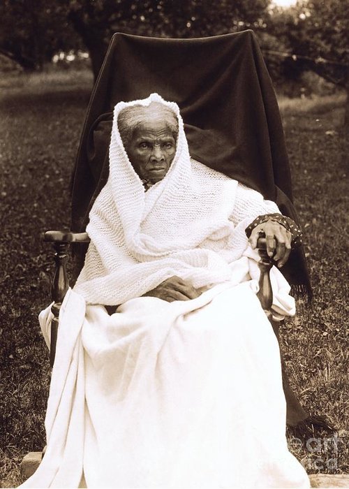 Douglass Greeting Card featuring the photograph Harriet Tubman Portrait 1911 by Unknown