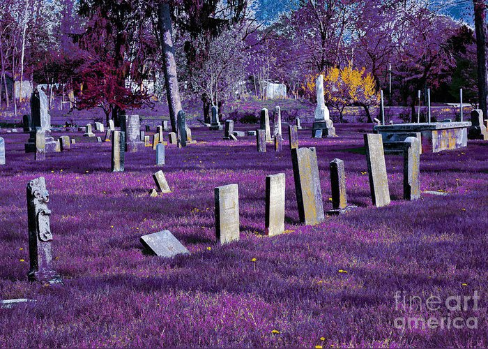 Photography Greeting Card featuring the photograph Haunted Cemetery by Alys Caviness-Gober