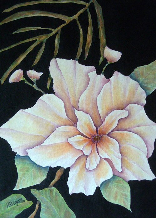 Pamela Allegretto Greeting Card featuring the painting Hawaiian Pua by Pamela Allegretto