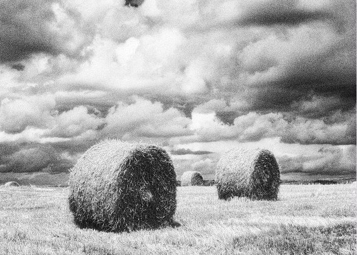 Hay Bales Greeting Card featuring the photograph Haybales Uk by Jon Boyes