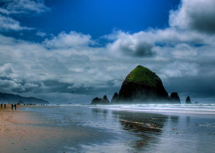 Cannon Beach Greeting Card featuring the photograph Haystack Rock Iv by David Patterson