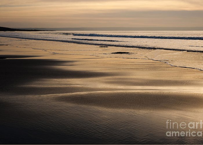Anne Greeting Card featuring the photograph Hazy Croyde by Anne Gilbert