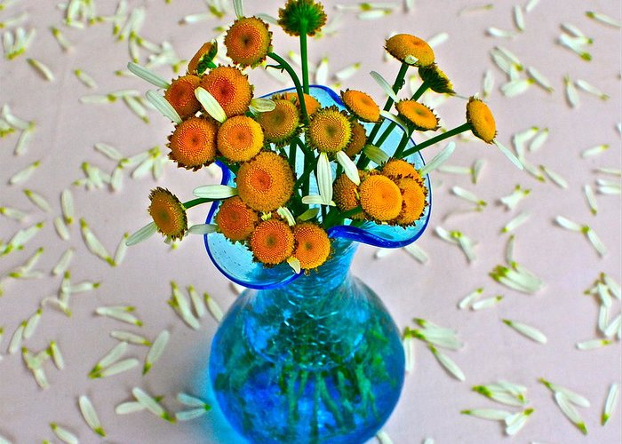 Flowers Greeting Card featuring the photograph He Loves Me Bouquet by Frozen in Time Fine Art Photography