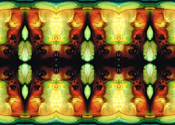 Healing Energy - Visionary Art By Sharon Cummings Greeting Card by Sharon Cummings