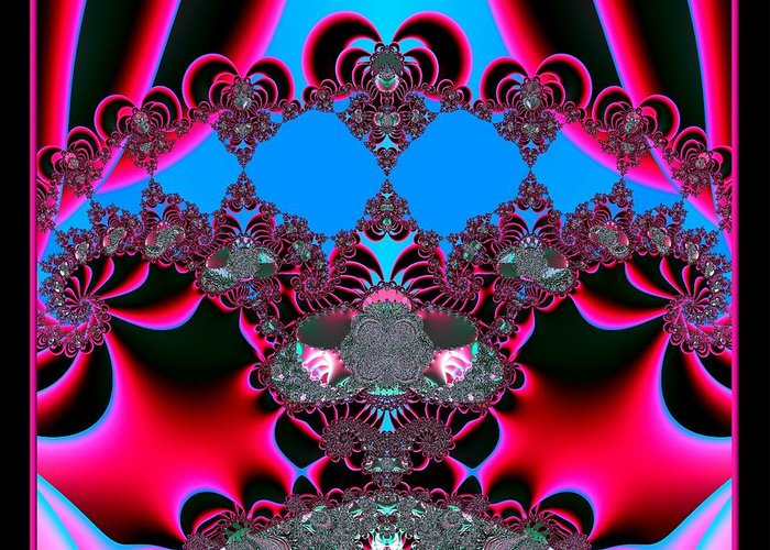 Hearts Greeting Card featuring the digital art Hearts Ballet Curtain Call Fractal 121 by Rose Santuci-Sofranko
