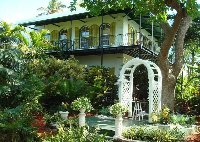 Ernest Hemingway Greeting Card featuring the photograph Hemingway House by Kay Gilley