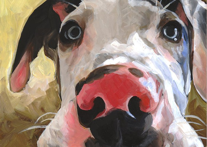 Puppy Greeting Card featuring the painting Herbie by Annie Salness