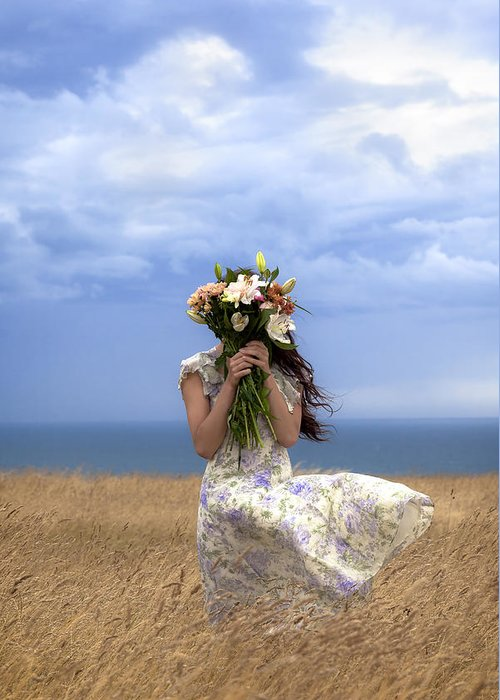 Girl Greeting Card featuring the photograph Hiding by Joana Kruse