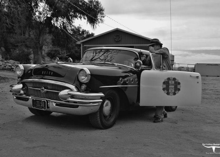 Highway Patrol Greeting Card featuring the photograph Highway Patrol 4 by Tommy Anderson