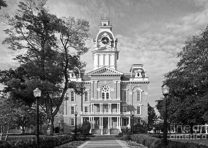 Central Hall Greeting Card featuring the photograph Hillsdale College Central Hall by University Icons