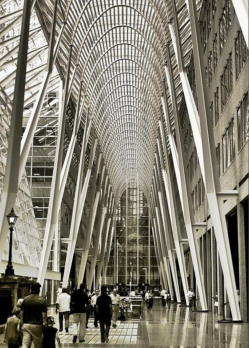 Architecture Greeting Card featuring the photograph Hockey Hall Of Fame - Galleria by Carson Buzdegan
