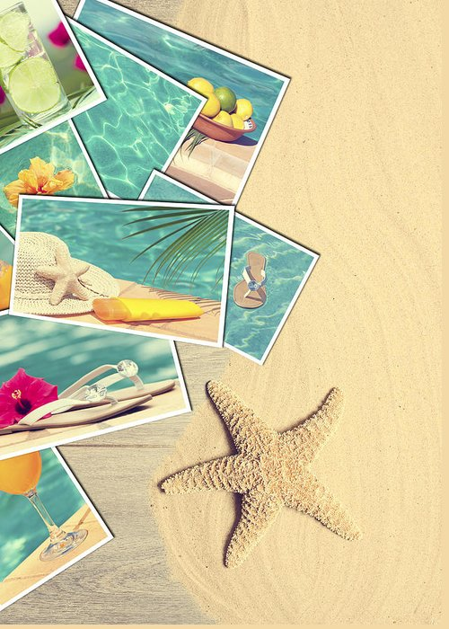 Sand Greeting Card featuring the photograph Holiday Postcards by Amanda Elwell