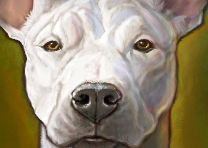 Dog Greeting Card featuring the painting Honor by Sean ODaniels