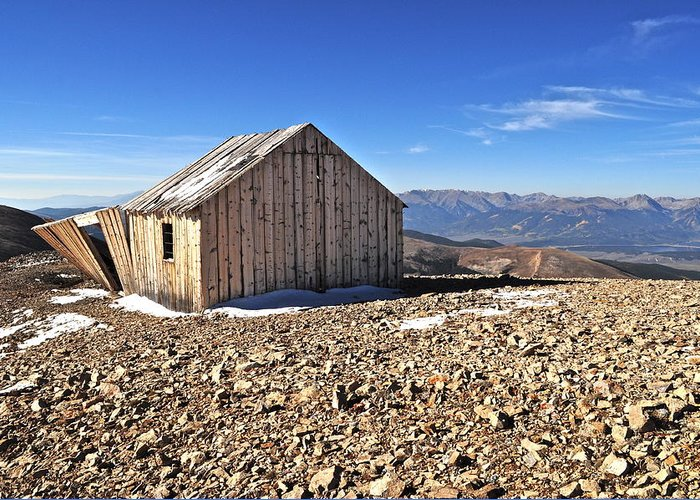 Colorado Greeting Card featuring the photograph Horseshoe Mountain Mining Shack by Aaron Spong