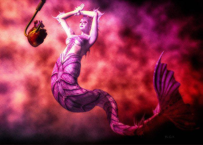 Mermaids Greeting Card featuring the digital art How To Catch Mermaids by Bob Orsillo