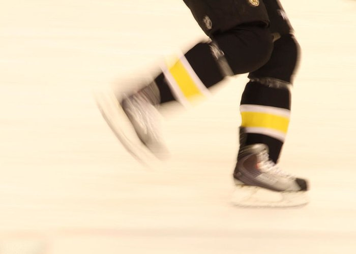 Hockey Greeting Card featuring the photograph Ice Speed by Karol Livote