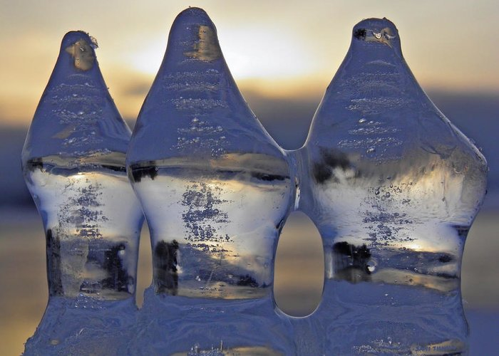 Three Greeting Card featuring the photograph Ice Trio by Sami Tiainen