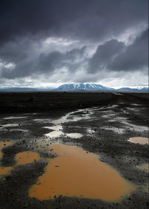Iceland Greeting Card featuring the photograph Iceland After The Rain by Nina Papiorek