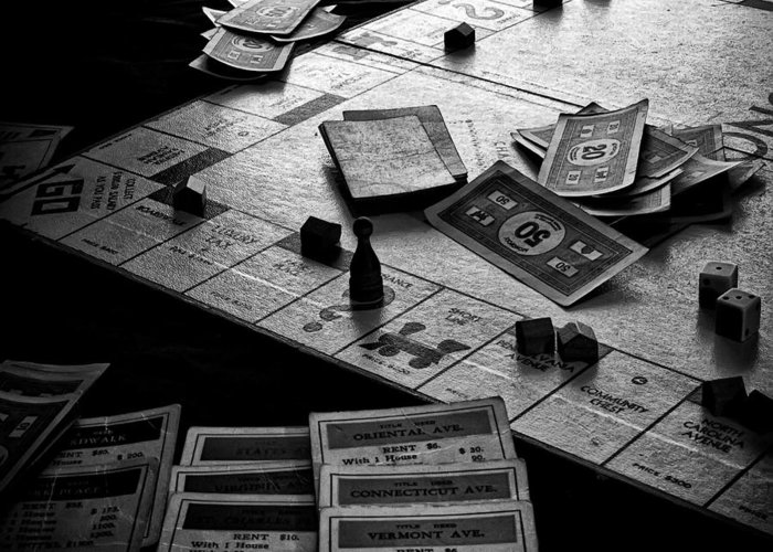 Monopoly Greeting Card featuring the photograph Iconic Game by Camille Lopez