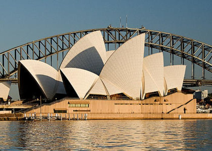 Sydney Opera House Greeting Card featuring the photograph Icons One And Two - Sydney Australia. by Geoff Childs