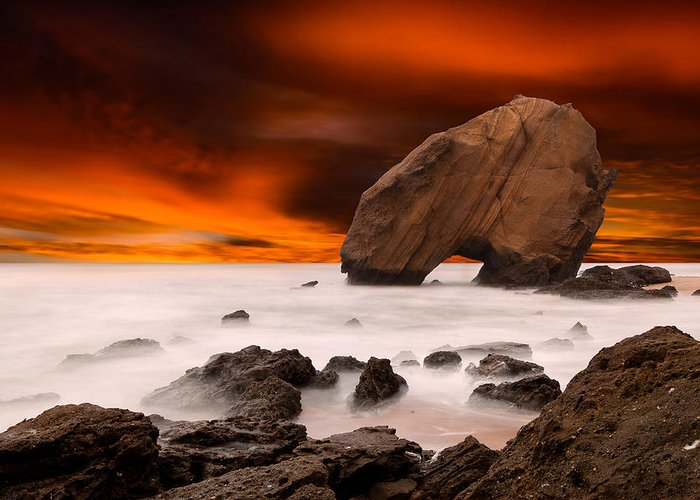 Seascape Greeting Card featuring the photograph Imagine by Jorge Maia