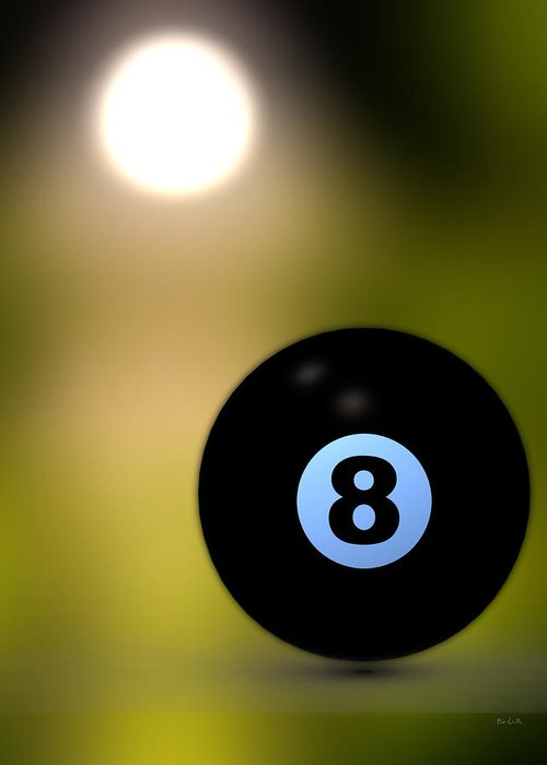 8 Ball Greeting Card featuring the photograph In Front Of The Eight Ball by Bob Orsillo