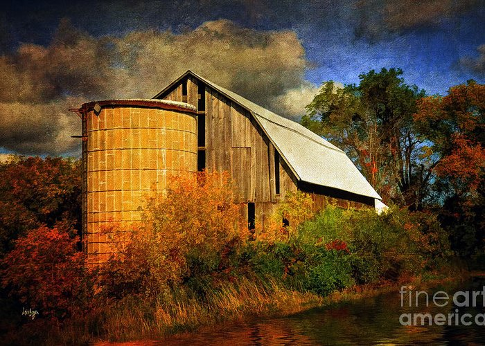 Barn Greeting Card featuring the photograph In The Gloaming by Lois Bryan