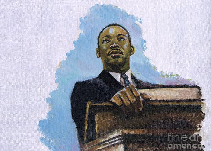 Martin Luther King Jr Greeting Card featuring the painting Inalienable by Colin Bootman