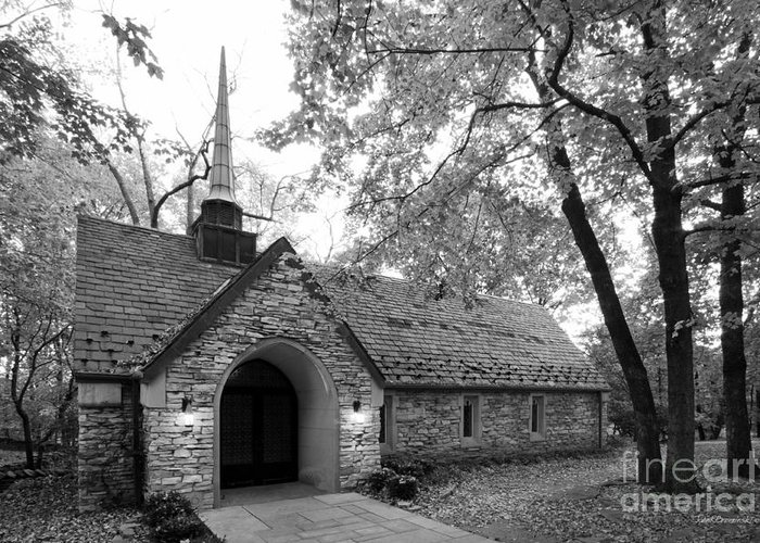 American Greeting Card featuring the photograph Indiana University Beck Chapel by University Icons