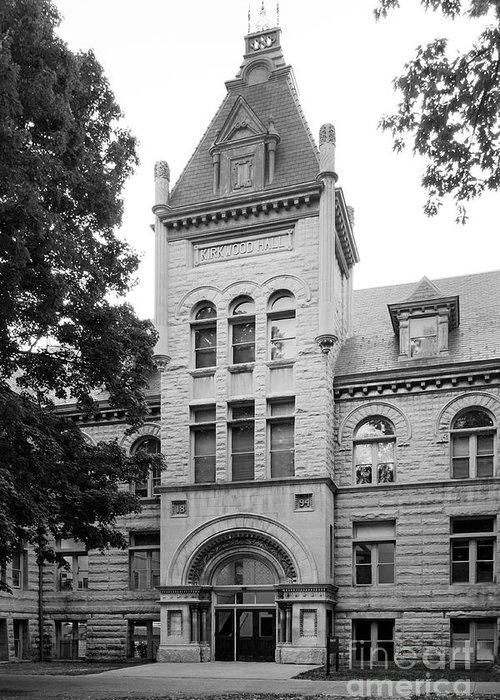 American Greeting Card featuring the photograph Indiana University Kirkwood Hall by University Icons