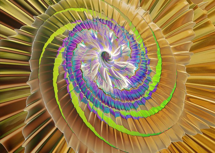 Digital Art Greeting Card featuring the digital art Inner Twister by Deborah Benoit