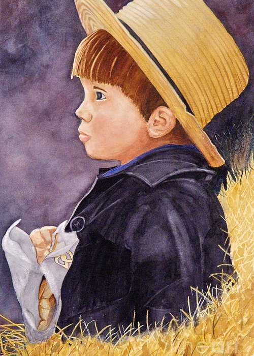 Innocence Greeting Card featuring the painting Innocence by John W Walker